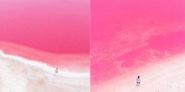 Hồ nước màu hồng tuyệt đẹp tại Úc