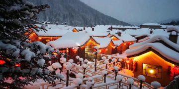 Ngôi làng cổ tích suốt nửa năm bị tuyết bao phủ ở Trung Quốc